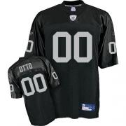 Reebok Oakland Raiders 0 Jim Otto Black Replica Throwback NFL Jersey