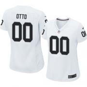 Women's Nike Oakland Raiders 0 Jim Otto Elite White NFL Jersey
