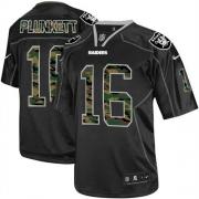 Men's Nike Oakland Raiders 16 Jim Plunkett Elite Black Camo Fashion NFL Jersey