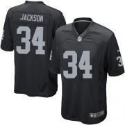 Men's Nike Oakland Raiders 34 Bo Jackson Game Black Team Color NFL Jersey