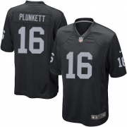 Men's Nike Oakland Raiders 16 Jim Plunkett Game Black Team Color NFL Jersey