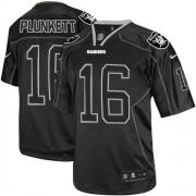 Men's Nike Oakland Raiders 16 Jim Plunkett Limited Lights Out Black NFL Jersey