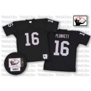 Mitchell and Ness Oakland Raiders 16 Jim Plunkett Black Authentic Throwback NFL Jersey