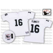 Mitchell and Ness Oakland Raiders 16 Jim Plunkett White Authentic NFL Throwback Jersey