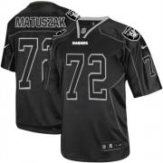 Men's Nike Oakland Raiders 72 John Matuszak Elite Lights Out Black NFL Jersey