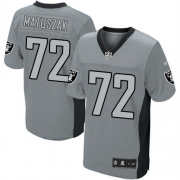Men's Nike Oakland Raiders 72 John Matuszak Elite Grey Shadow NFL Jersey