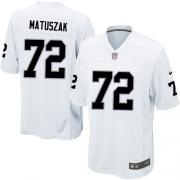 Men's Nike Oakland Raiders 72 John Matuszak Game White NFL Jersey