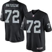 Men's Nike Oakland Raiders 72 John Matuszak Limited Black Team Color NFL Jersey