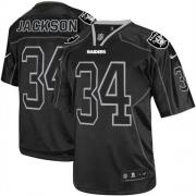 Men's Nike Oakland Raiders 34 Bo Jackson Elite Lights Out Black NFL Jersey