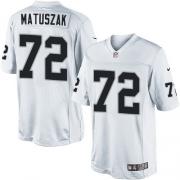 Men's Nike Oakland Raiders 72 John Matuszak Limited White NFL Jersey