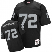 Mitchell and Ness Oakland Raiders 72 John Matuszak Black Team Color Authentic NFL Throwback Jersey