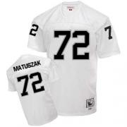 Mitchell and Ness Oakland Raiders 72 John Matuszak White Authentic NFL Throwback Jersey