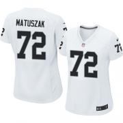 Women's Nike Oakland Raiders 72 John Matuszak Elite White NFL Jersey