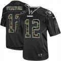 Men's Nike Oakland Raiders 12 Kenny Stabler Elite Black Camo Fashion NFL Jersey