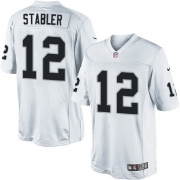Men's Nike Oakland Raiders 12 Kenny Stabler Limited White NFL Jersey