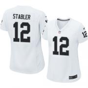 Women's Nike Oakland Raiders 12 Kenny Stabler Elite White NFL Jersey