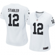 Women's Nike Oakland Raiders 12 Kenny Stabler Game White NFL Jersey