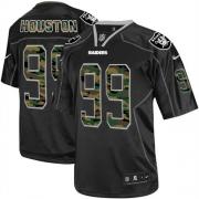 Men's Nike Oakland Raiders 99 Lamarr Houston Elite Black Camo Fashion NFL Jersey