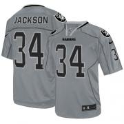 Men's Nike Oakland Raiders 34 Bo Jackson Game Lights Out Grey NFL Jersey