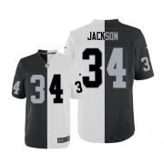 Men's Nike Oakland Raiders 34 Bo Jackson Elite Team/Road Two Tone NFL Jersey