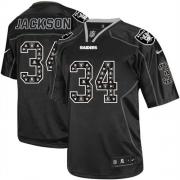 Men's Nike Oakland Raiders 34 Bo Jackson Game New Lights Out Black NFL Jersey