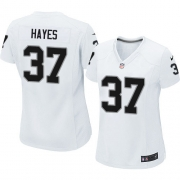 Women's Nike Oakland Raiders 37 Lester Hayes Limited White NFL Jersey
