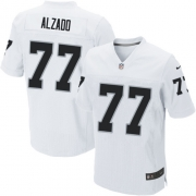 Men's Nike Oakland Raiders 77 Lyle Alzado Elite White NFL Jersey