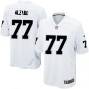 Men's Nike Oakland Raiders 77 Lyle Alzado Game White NFL Jersey