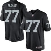 Men's Nike Oakland Raiders 77 Lyle Alzado Limited Black Team Color NFL Jersey
