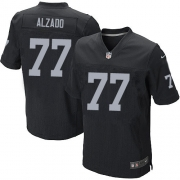 Men's Nike Oakland Raiders 77 Lyle Alzado Elite Black Team Color NFL Jersey