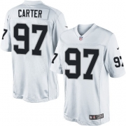 Men's Nike Oakland Raiders 97 Andre Carter Limited White NFL Jersey