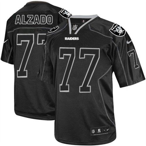 Men's Nike Oakland Raiders 77 Lyle Alzado Limited Lights Out Black ...