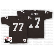Mitchell and Ness Oakland Raiders 77 Lyle Alzado Black Authentic NFL Throwback Jersey