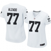 Women's Nike Oakland Raiders 77 Lyle Alzado Elite White NFL Jersey