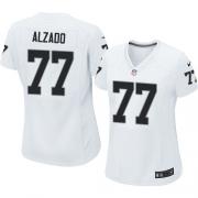 Women's Nike Oakland Raiders 77 Lyle Alzado Limited White NFL Jersey
