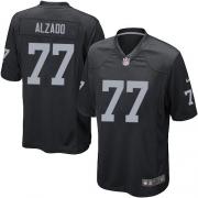 Youth Nike Oakland Raiders 77 Lyle Alzado Elite Black Team Color NFL Jersey