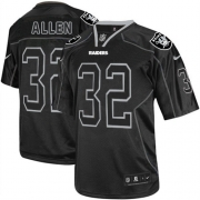 Men's Nike Oakland Raiders 32 Marcus Allen Game Lights Out Black NFL Jersey