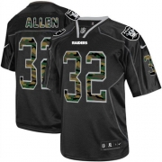 Men's Nike Oakland Raiders 32 Marcus Allen Elite Black Camo Fashion NFL Jersey