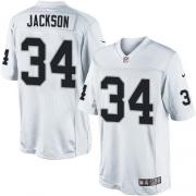 Men's Nike Oakland Raiders 34 Bo Jackson Limited White NFL Jersey