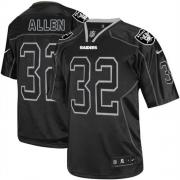 Men's Nike Oakland Raiders 32 Marcus Allen Elite Lights Out Black NFL Jersey