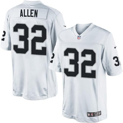 Men's Nike Oakland Raiders 32 Marcus Allen Limited White NFL Jersey