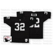 Mitchell and Ness Oakland Raiders 32 Marcus Allen Black Team Color Authentic NFL Throwback Jersey