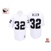Mitchell and Ness Oakland Raiders 32 Marcus Allen White Authentic NFL Throwback Jersey