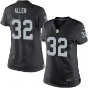 Women's Nike Oakland Raiders 32 Marcus Allen Elite Black Team Color NFL Jersey