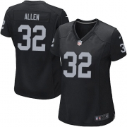 Women's Nike Oakland Raiders 32 Marcus Allen Game Black Team Color NFL Jersey