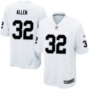 Youth Nike Oakland Raiders 32 Marcus Allen Elite White NFL Jersey