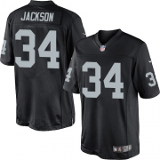 Men's Nike Oakland Raiders 34 Bo Jackson Limited Black Team Color NFL Jersey