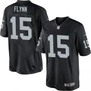 Men's Nike Oakland Raiders 15 Matt Flynn Limited Black Team Color NFL Jersey
