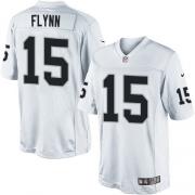 Men's Nike Oakland Raiders 15 Matt Flynn Limited White NFL Jersey