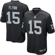 Youth Nike Oakland Raiders 15 Matt Flynn Elite Black Team Color NFL Jersey